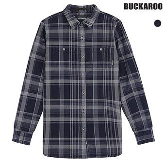 유니 인디고체크 다잉 셔츠(B191SH050P)