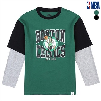 [NBA KIDS] 오리지날 오버핏 레이어드 티셔츠 (K191TS040P)