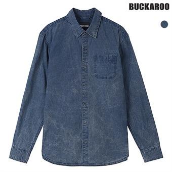 남성 인디고 잔체크 워싱 셔츠(B191SH300P)