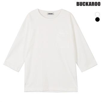 남성 PE/CO/PU 루즈핏 7부 라운드티셔츠(B191TS410P)