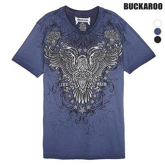 남성 30수 이글윙 R넥 티셔츠(B192Z4391P)