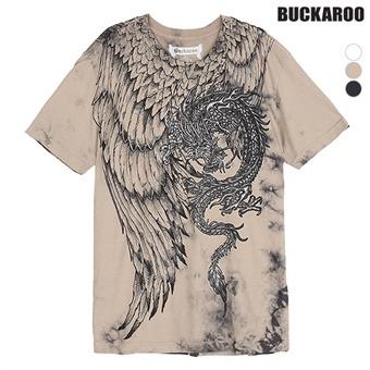 남성 30수 'DRAGON' R넥 티셔츠(B192Z4395P)