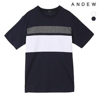 남성 배색 절개 티셔츠(O192Z2100P)