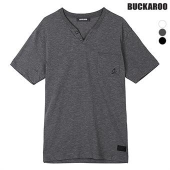 유니 26수 슬럽 슬릿 헨리넥 티셔츠(B192Z4035P)