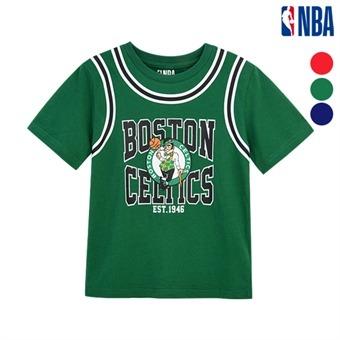 [NBA KIDS] NBA팀 FAKE 레이어드 티셔츠 (K192TS110P)