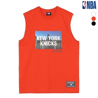 남성 뉴욕닉스 실사 오버핏 민소매 티셔츠(N192Z9456P)