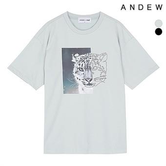 남성 레오파드 WWF콜라보 티셔츠(O192TS420P)