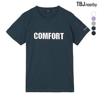 유니 레터링 티셔츠(T192TS001P)