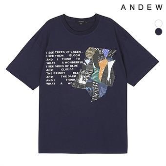 남성 면실켓 아트웍 티셔츠(O192TS300P)