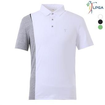 남P 스윙라인 컬러배색 제에리 티셔츠(L192TS118P)