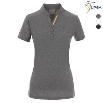 여P LPGA칼라 포인트 변형에리 티셔츠(L192TS516P)