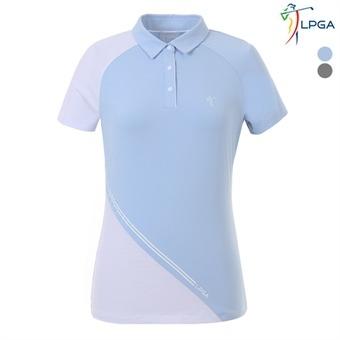 여P 사선배색 제에리 티셔츠(L192TS530P)