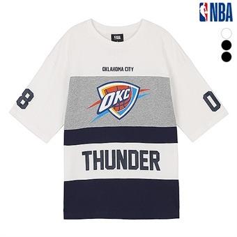 유니 NBA팀로고 컬러블록 반팔 티셔츠(N192TS117P)