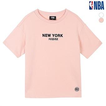 여성 뉴욕닉스 옆트임 테이프배색 티셔츠(N192TS705P)