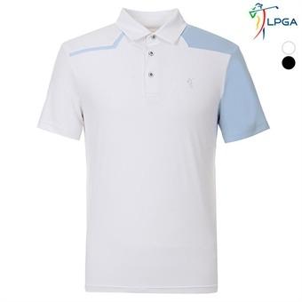 남P 비대칭배색 제에리 티셔츠(L192TS125P)