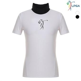여P 스윙레이디 펀칭 변형에리 티셔츠(L192TS520P)