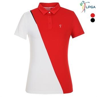 [고진영프로착장] 스윙라인 절개배색 제에리 티셔츠(L192TS523P)