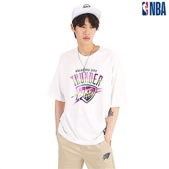 유니 오클라호마 시티 썬더 실리콘프린트 티셔츠 (N192TS114P)