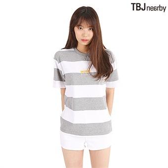 유니 미니쮸리 스트라이프 티셔츠(T192TS080P)