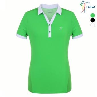 여P 에리배색 제에리 티셔츠(L192TS525P)