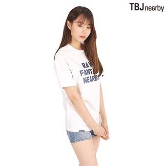 유니 미니쮸리 레터링 티셔츠(T192TS070P)