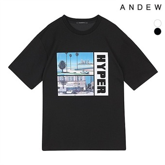 남성 아트웍 그래픽 티셔츠(O192TS270P)