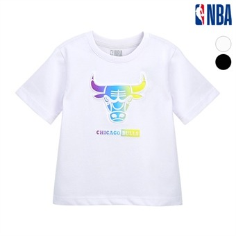 [NBA KIDS] NBA팀로고 그라데이션 아트웍 반팔 티셔츠 (K192TS311P)