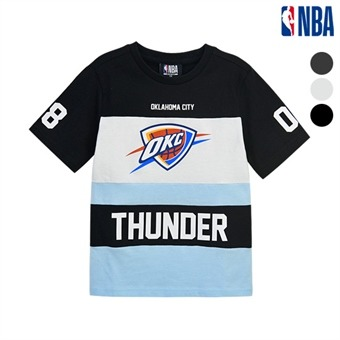 [NBA KIDS] NBA팀 컬러블록 반팔 티셔츠 (K192TS313P)