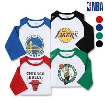 [NBA KIDS] NBA팀 로고 나그랑 7부 티셔츠 (K192TS040P)