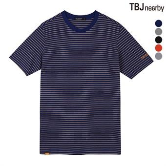 유니 싱글 스트라이프 티셔츠(T192TS100P)