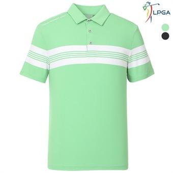 남P STRIPE 배색 포인트 제에리 티셔츠(L192TS119P)