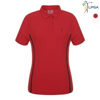 여P 웰딩배색 동체패턴 제에리 티셔츠(L192TS534P)