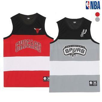 남성 NBA 컬러블럭 팀 슬리브리스(N192TS452P)