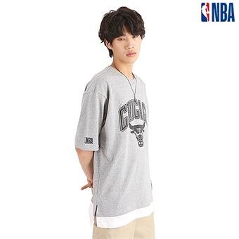 유니 NBA팀로고 3M 고주파 레이어드 티셔츠(N192TS113P)