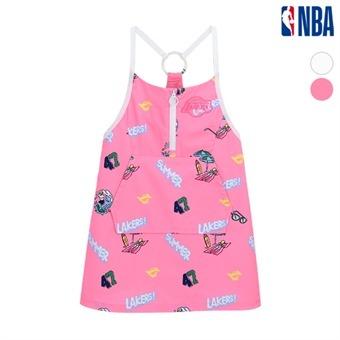 [NBA KIDS] LA레이커스 하와이안 원피스 (K192OP610P)