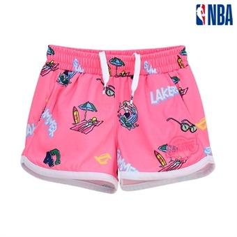 [NBA KIDS] LA레이커스 비치 걸 숏 팬츠[SET-UP] (K192TP611P)