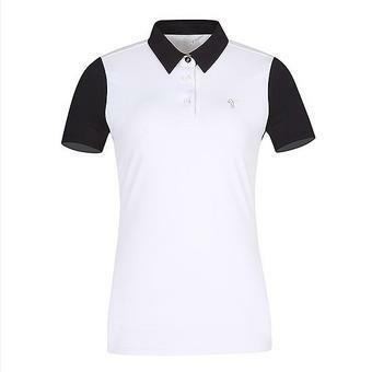 여C고진영 콜라보 소매배색 제에리 티셔츠(L192TS540P)