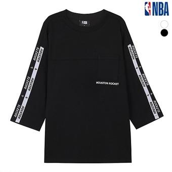 유니 앞판 절개 포켓 7부 티셔츠(N193TS032P)