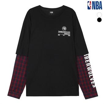 남성 우븐소매 레이어드 티셔츠 (N193TS312P)