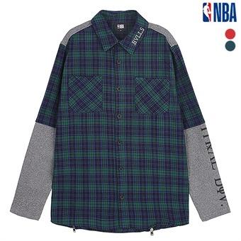 남성 시카고불스 다이마루 소매 배색 셔츠 (N193SH302P)