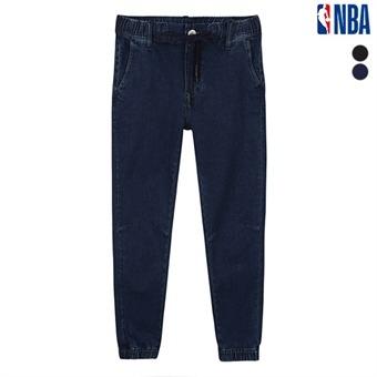 남성 NBA 무릎 절개디테일 조거 기모 데님팬츠 (N193DP392P)