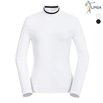 여A 엠보패치 하이넥 티셔츠(L193TL509P)
