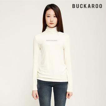 여성 골지 터틀넥 티셔츠 (B194TS750P)