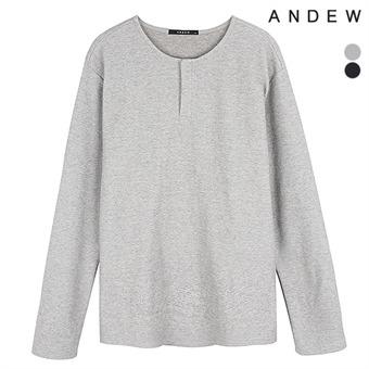 남성 폴리혼방 넥변형 긴팔 티셔츠(O194TS120P)