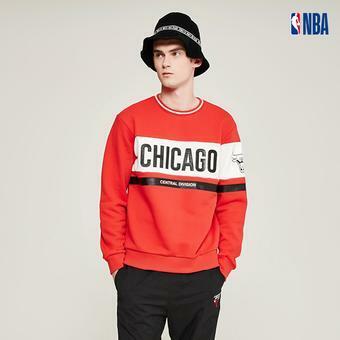 유니 NBA팀 컬러 블럭 맨투맨 (N194TS026P)