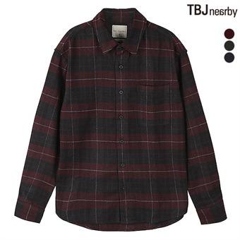 남성 울블랜드 체크셔츠 (T194SH410P)