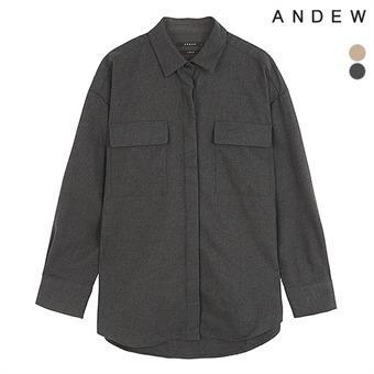 유니 코튼레이온 오버 아웃포켓 셔츠(O194SH040P)