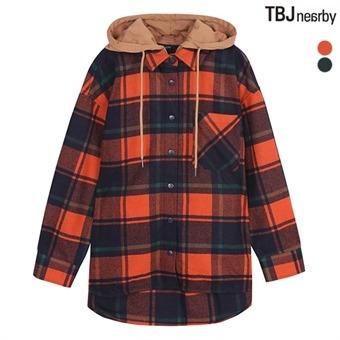 여성 울블랜드 후드체크 셔츠 (T194SH710P)