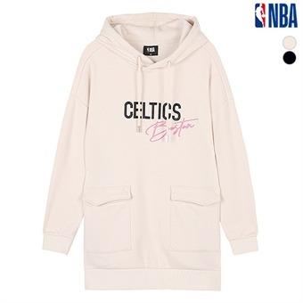 여성 NBA팀로고 포켓 롱후디 (N194TH701P)