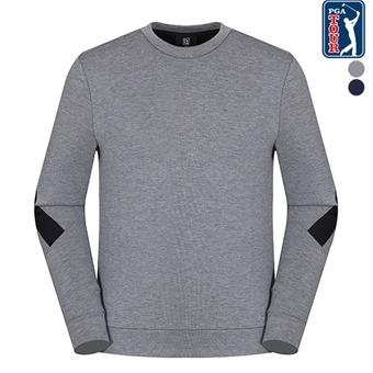 남E 소매포인트 라운드 티셔츠(L194TL114P)
